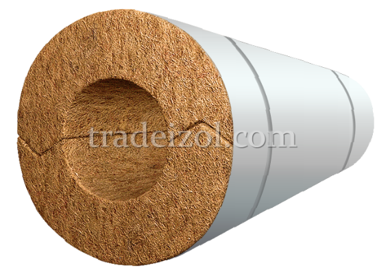Mineral wool pipe with a protective cover