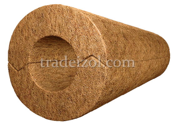 Mineral wool pipe insulation